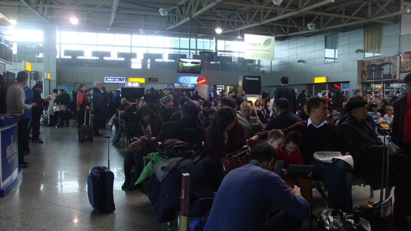 Накопитель в аэропорту Алматы