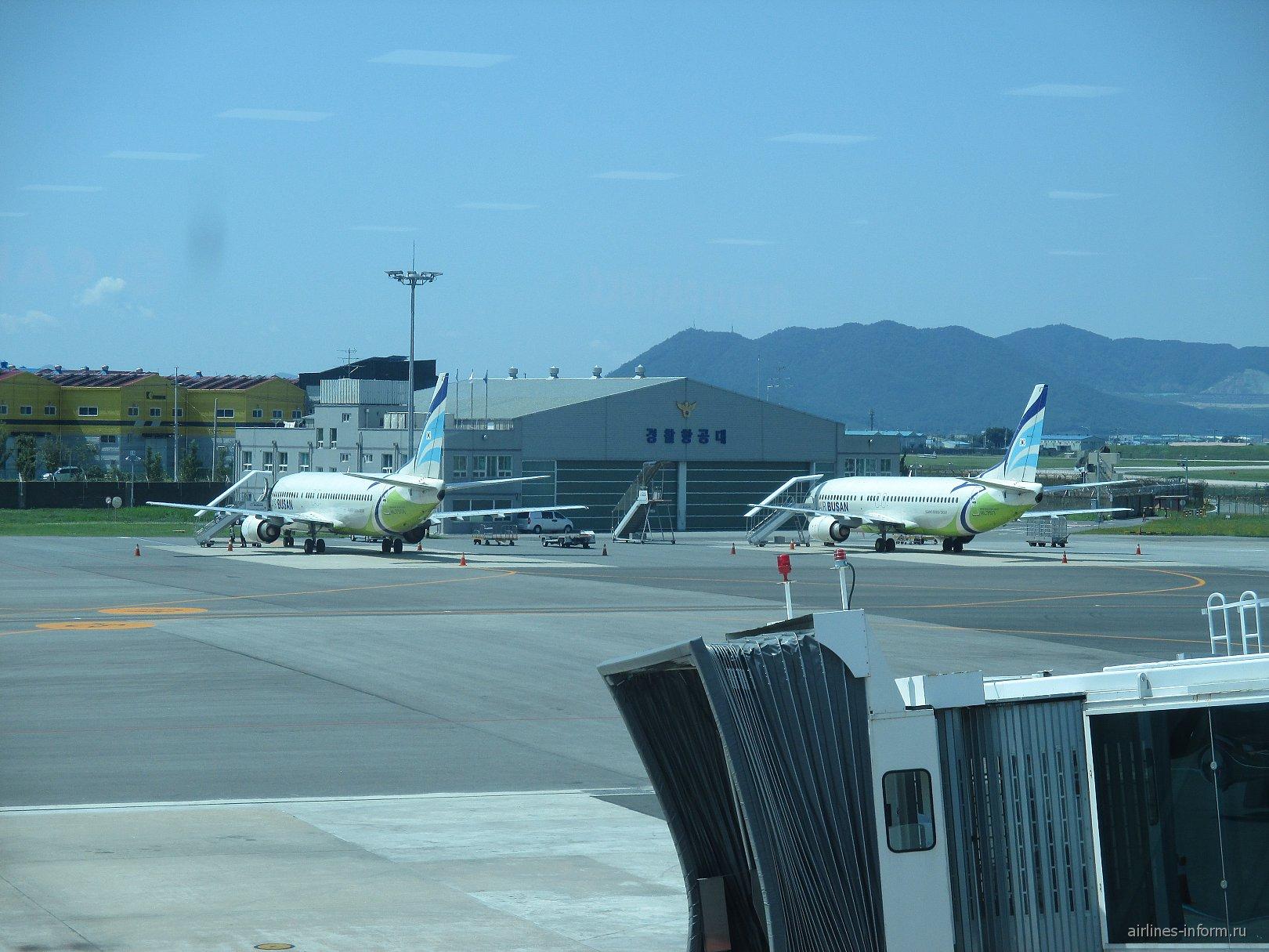 Станция технического обслуживания самолетов в аэропорту Пусан Гимхэ