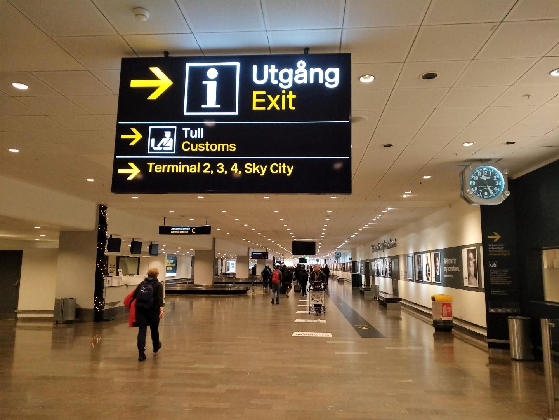 В зоне прилета аэропорта Стокгольм Арланда