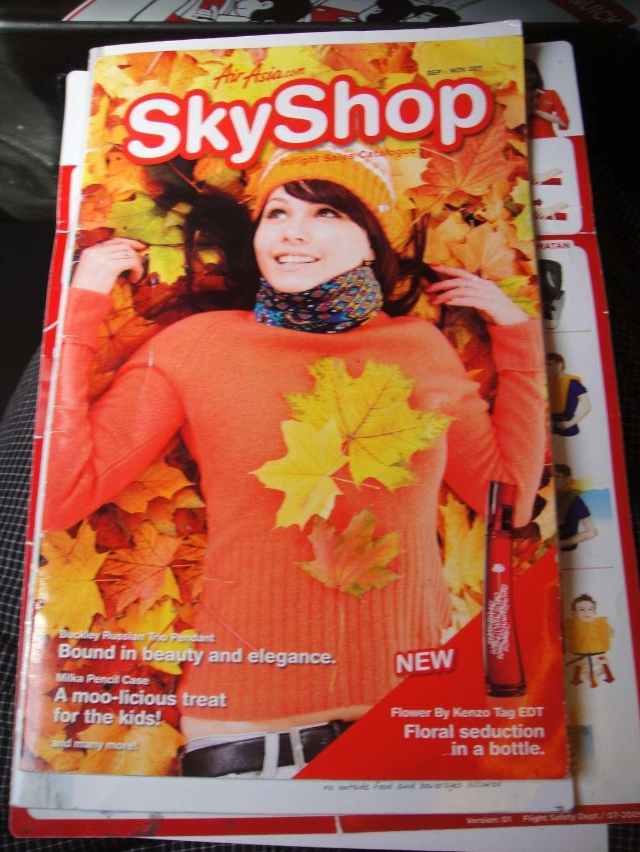SkyShop на борту авиакомпании Air Asia