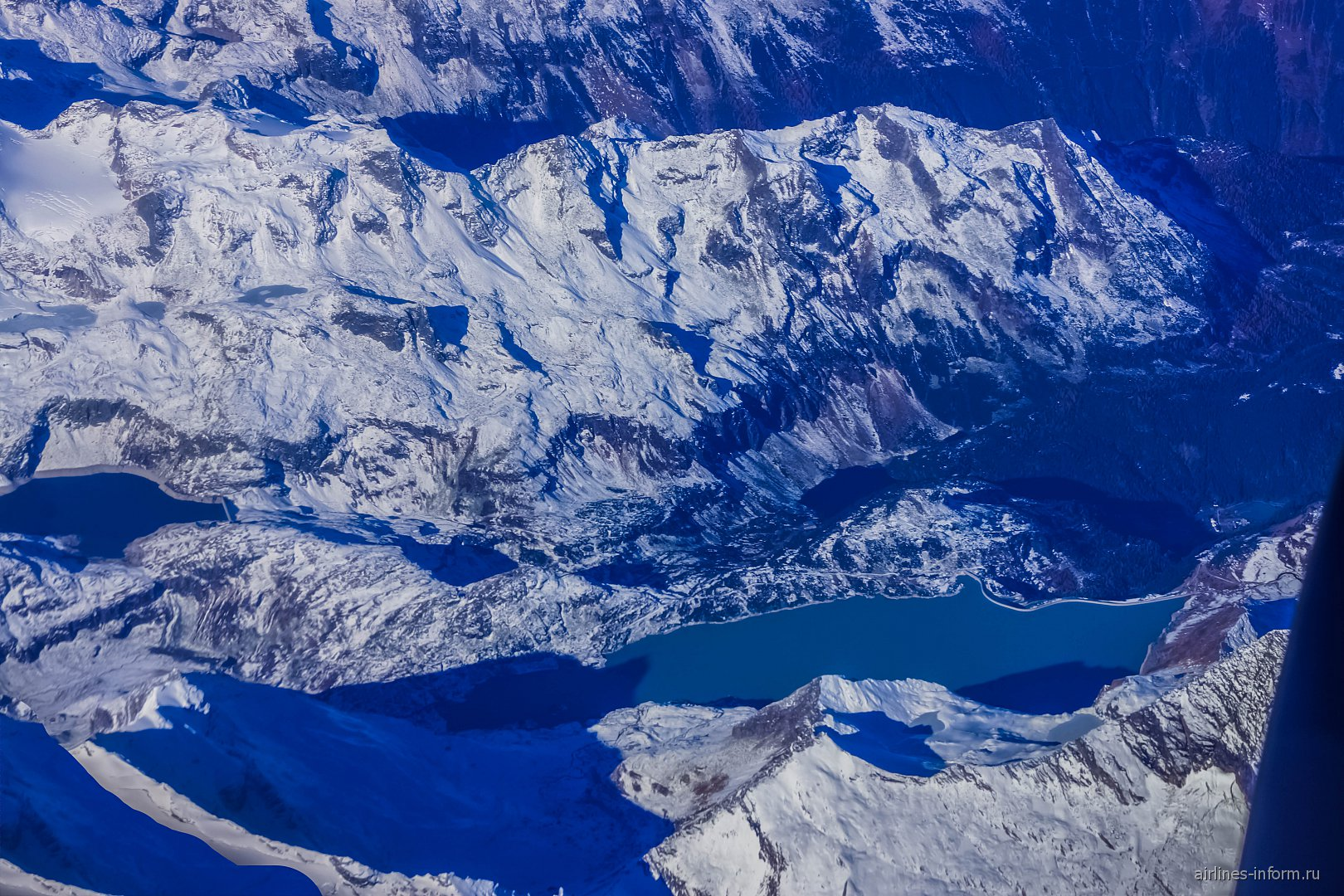 В полете над Альпами в Австрии