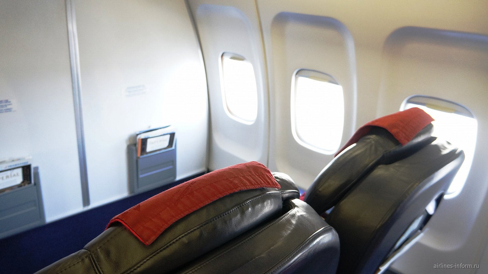 Бизнес-класс самолета Ту-214 авиакомпании Трансаэро