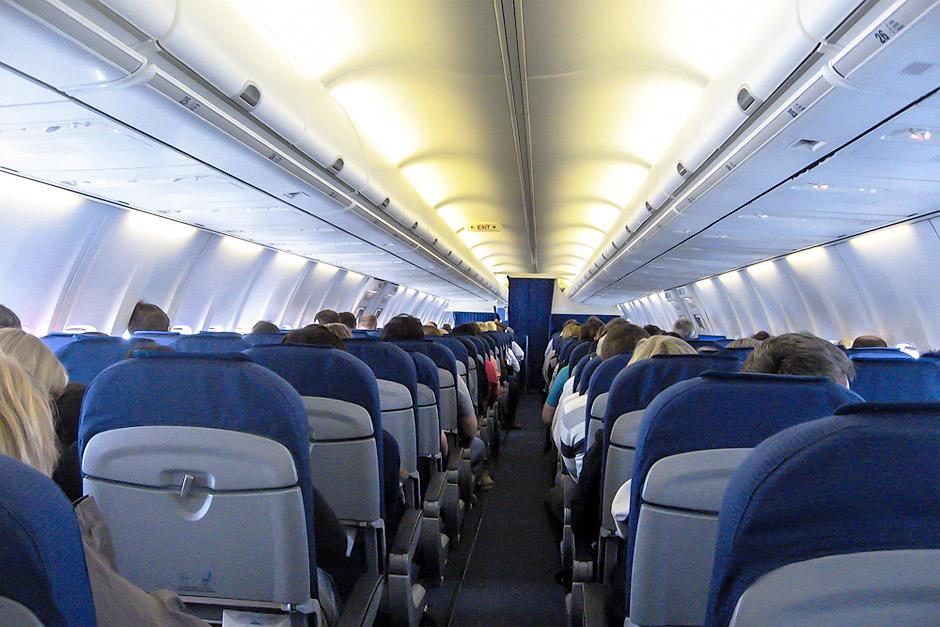Салон самолета Боинг-737-800 авиакомпании KLM