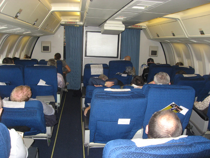 Business class cabin of Boeing 767-300