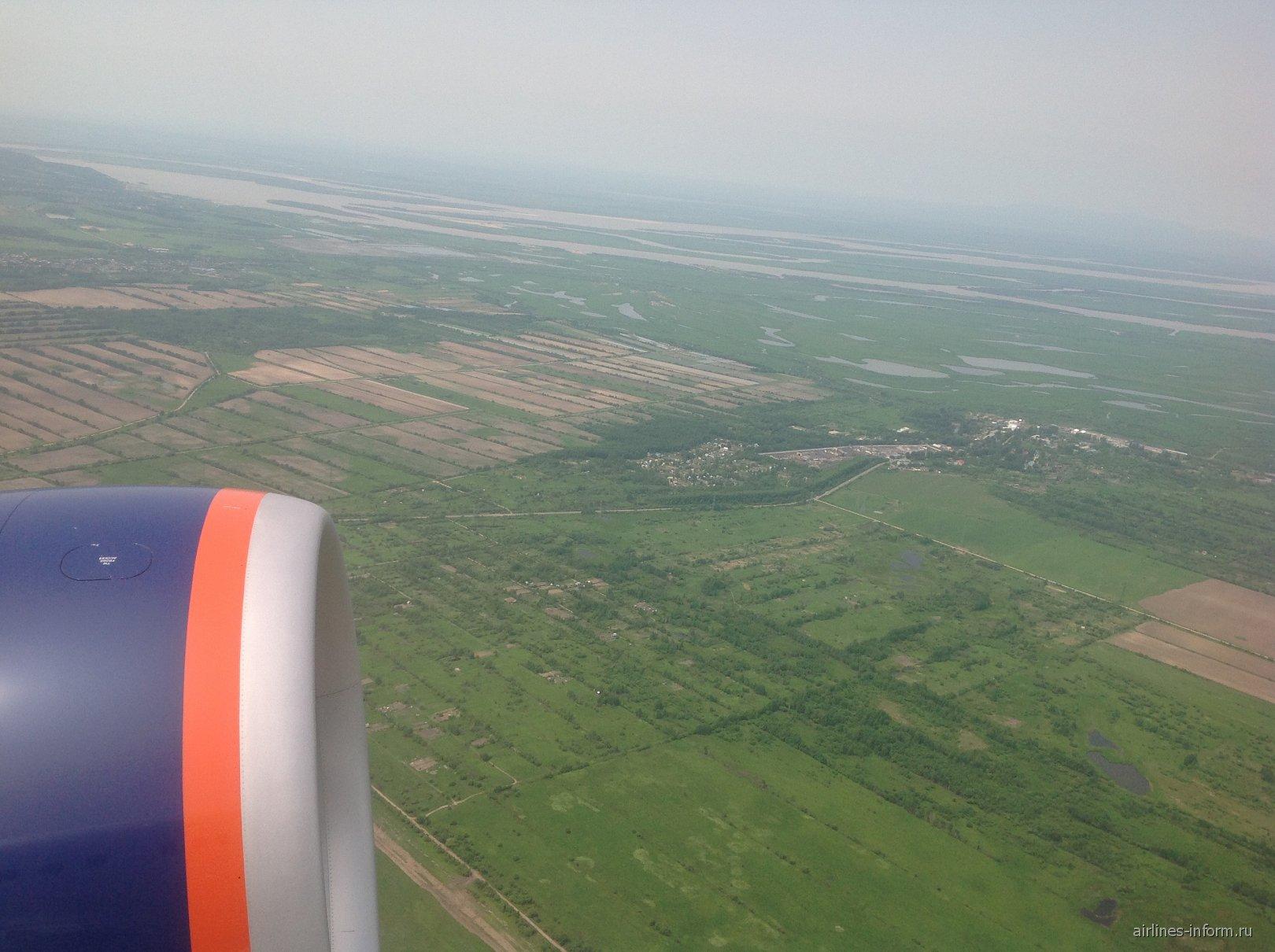 Взлет из аэропорта Хабаровск