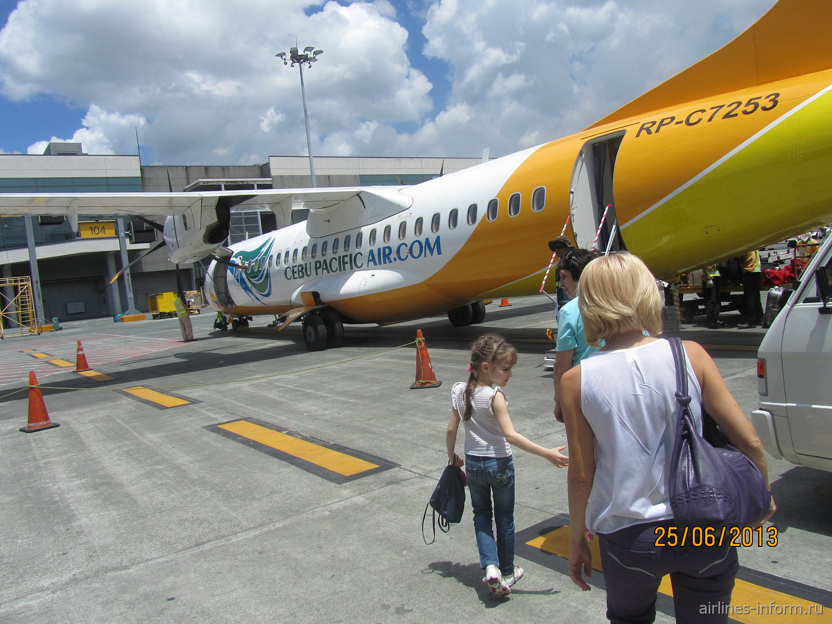 Самолет ATR 72 авиакомпании Cebu Pacific