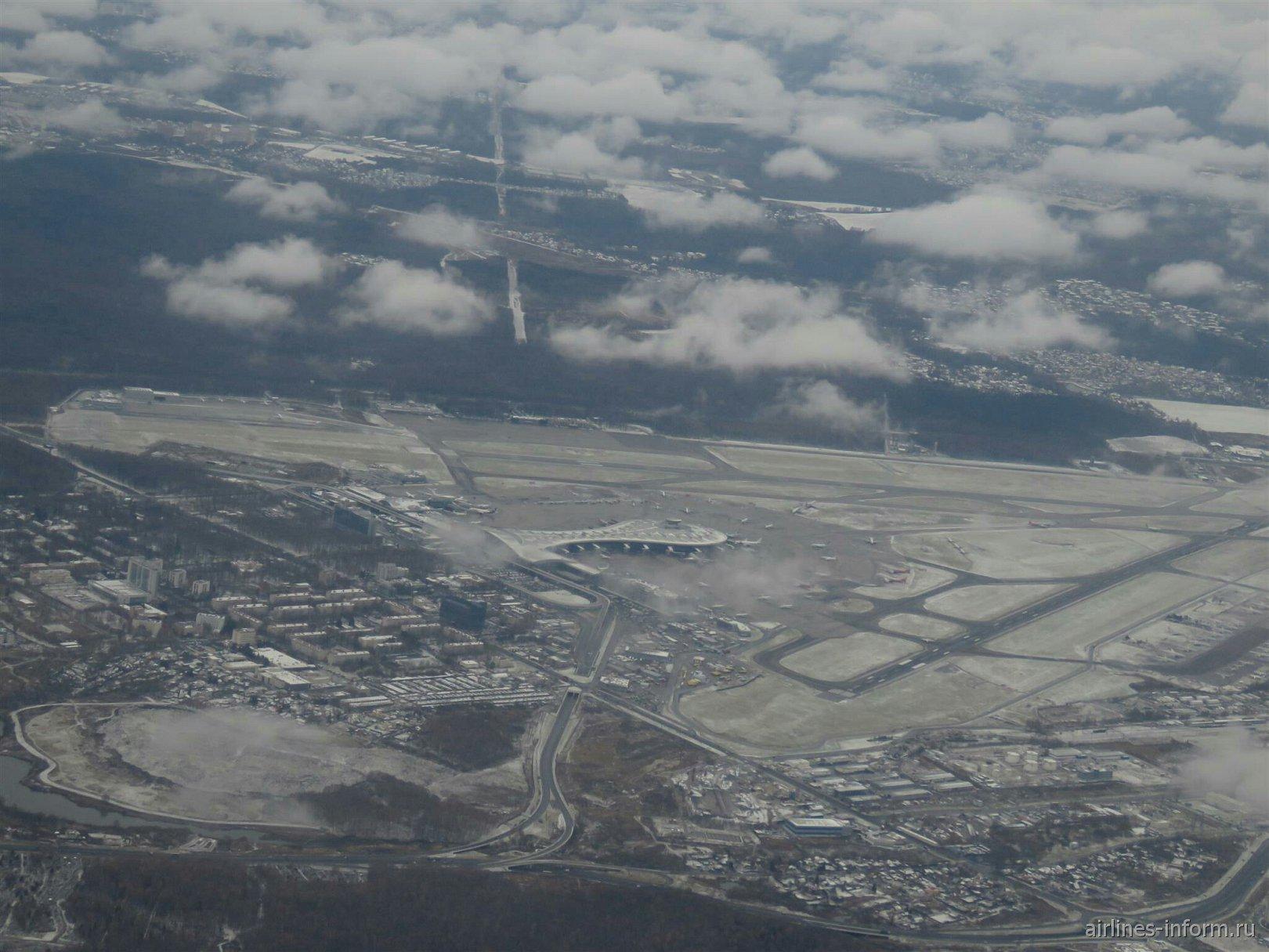 Вид при взлете на аэропорт Москва Внуково
