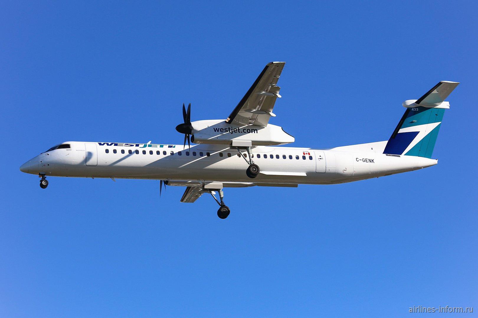 Bombardier Dash 8 Q400 C-GENK авиакомпании WestJet Encore