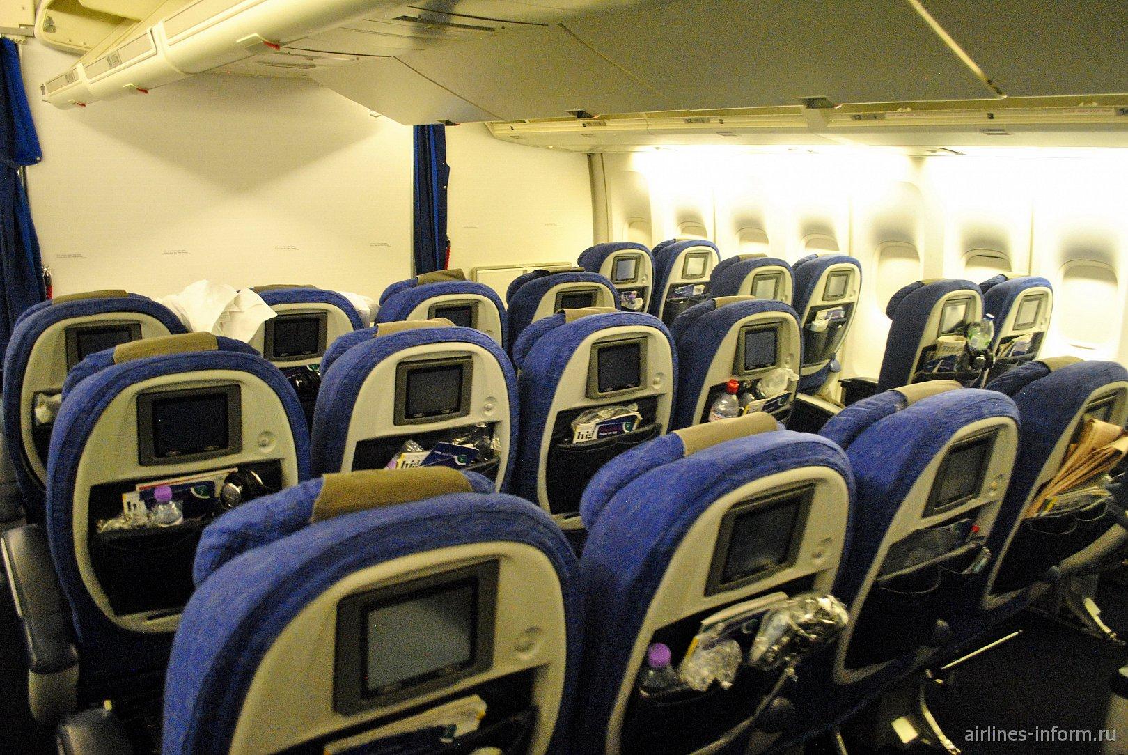 "Салон премиум-эконома ""World Traveller Plus"" в Боинге-747-400 British Airways"