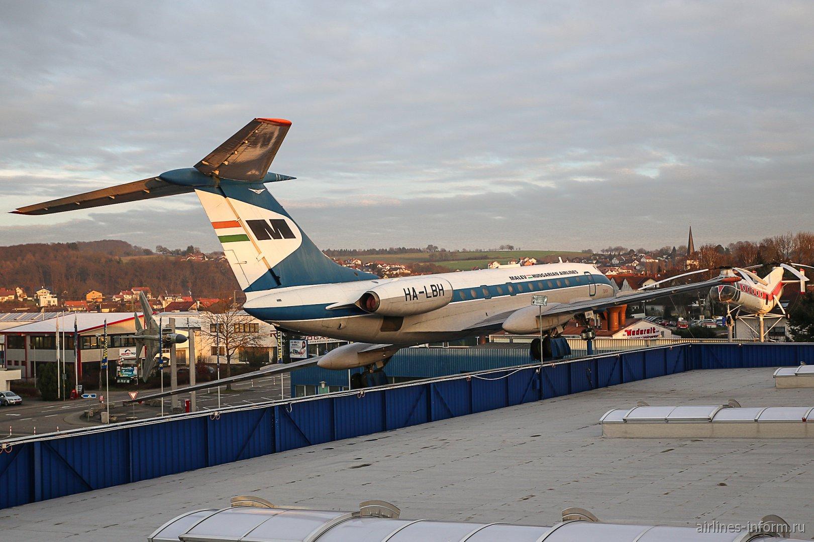 Самолет Ту-134 в музее техники в Зинсхайме