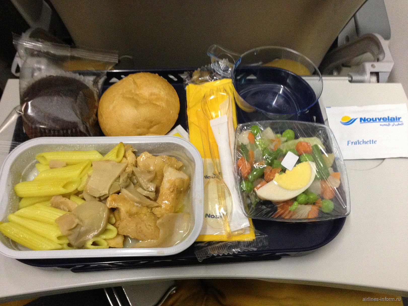 Питание на рейсе авиакомпании Nouvelair Энфида-Санкт-Петербург