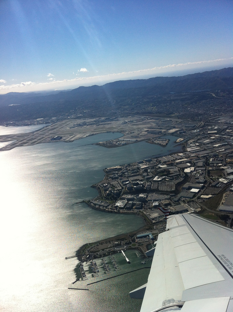 Взлет из аэропорта Сан-Франциско