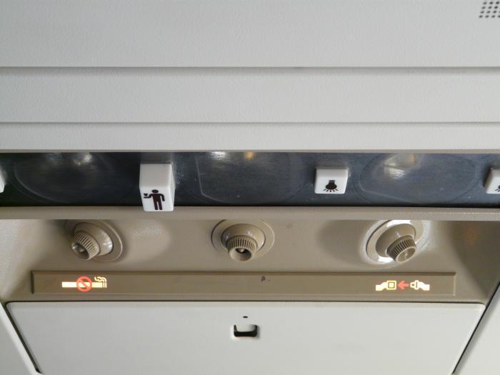 Внутри самолета Боинг-737-500 авиакомпании Россия