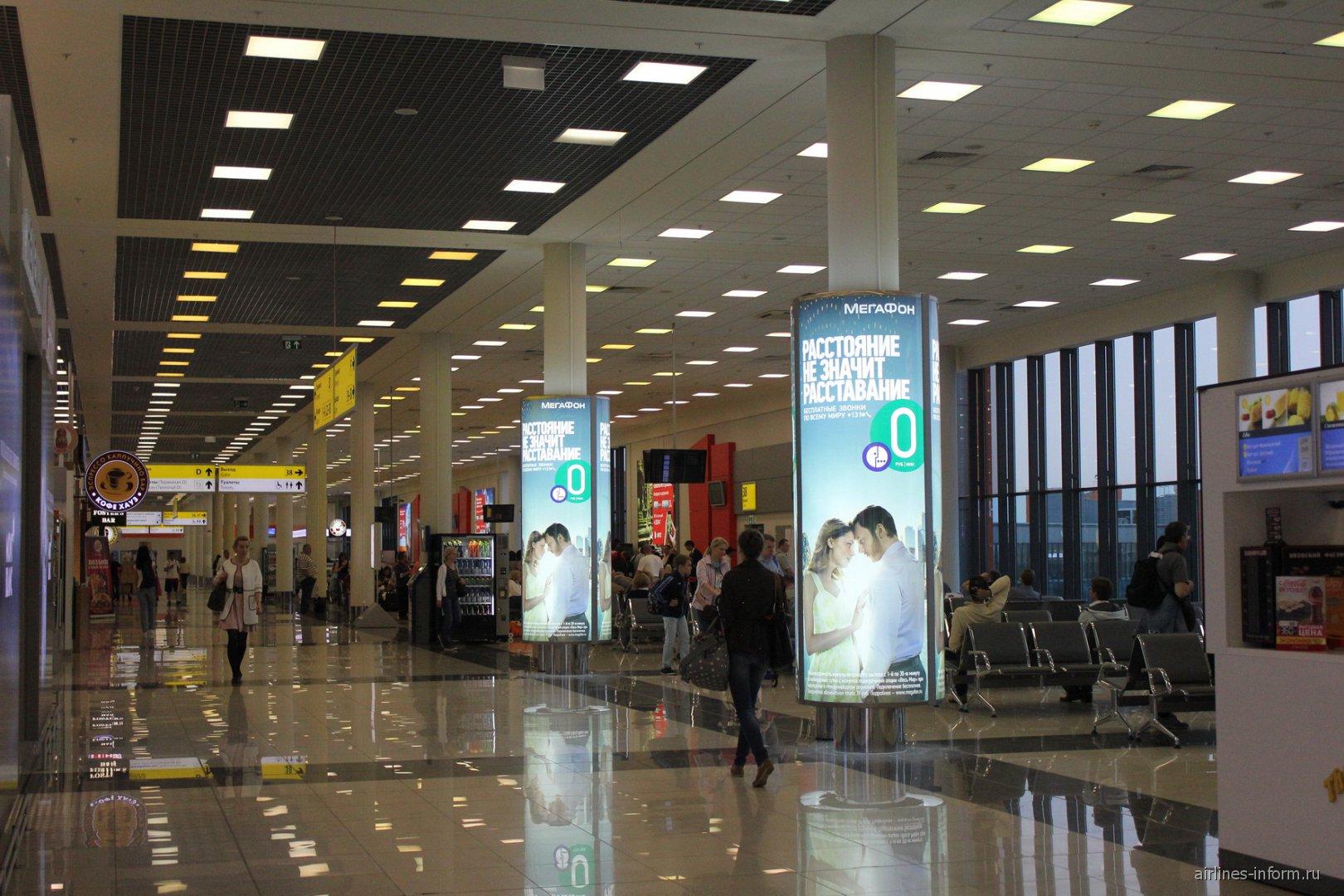 Залы ожидания в терминале E аэропорта Шереметьево