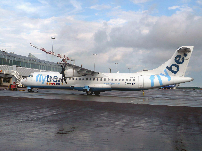 Самолет ATR 72 авиакомпании Flybe Nordic в аэропорту Хельсинки