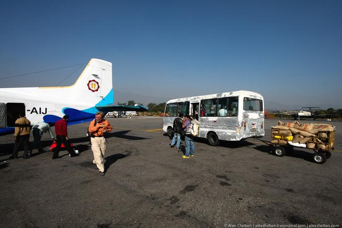 Прилет рейса в Катманду