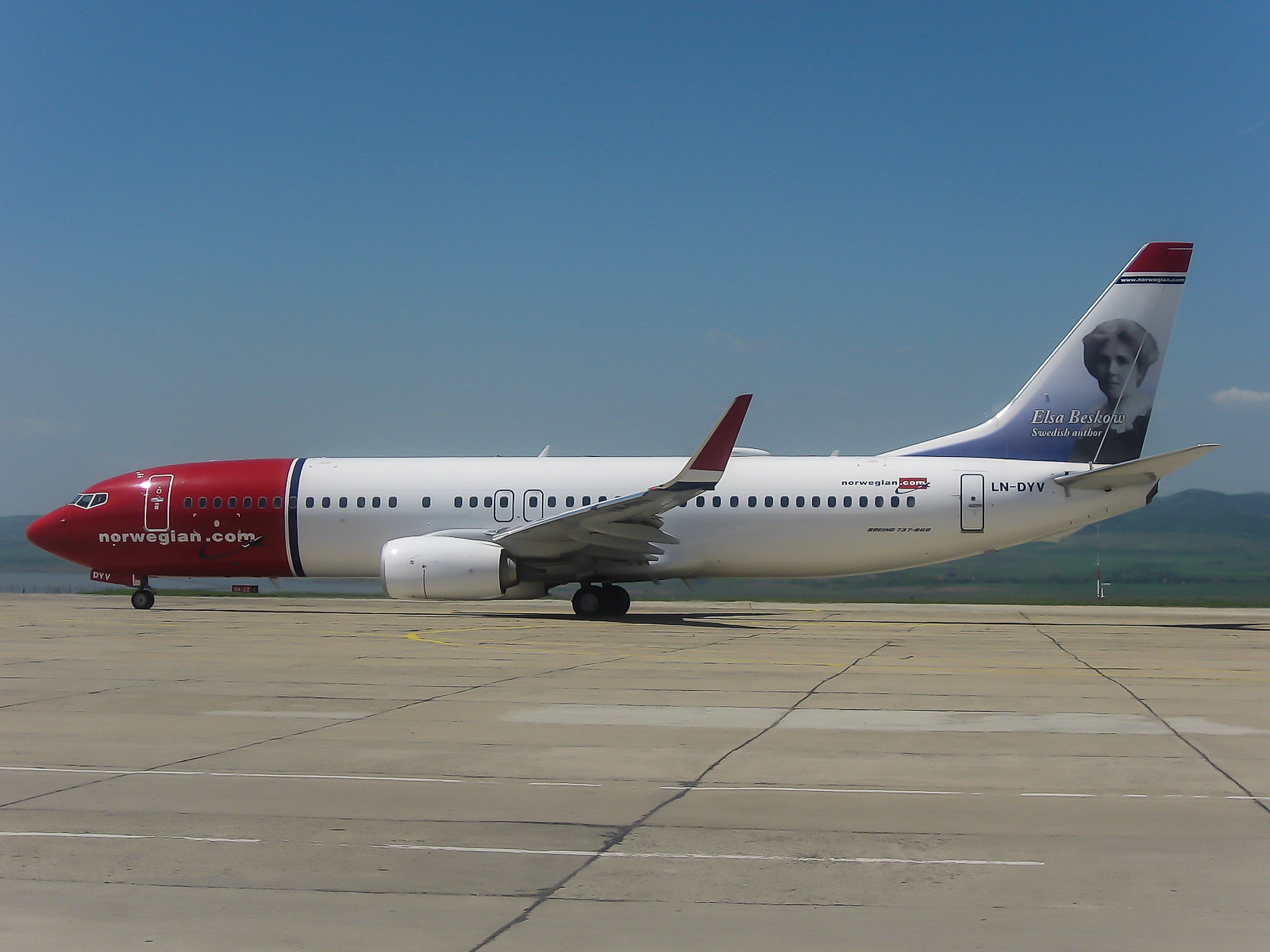 Boeing 737-800 Norwegian at the Burgas airport