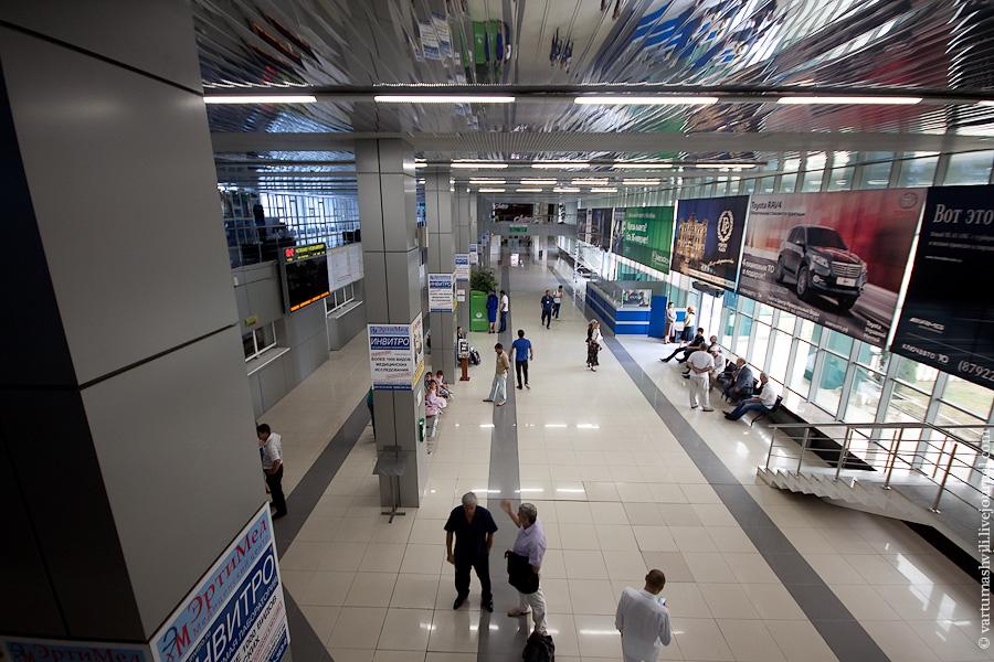 В аэровокзале аэропорта Грозный