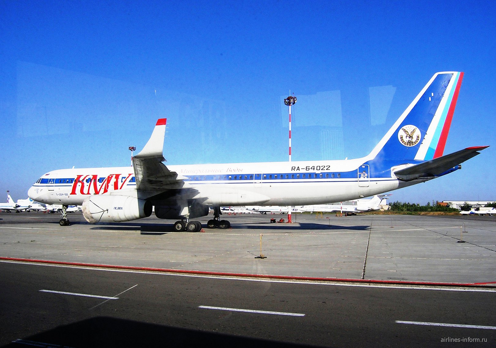 Самолет Ту-204 RA-64022 авиакомпании Кавминводыавиа