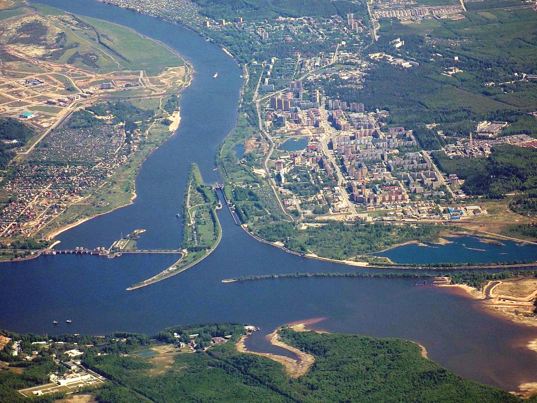Город Дубна на севере Московской области