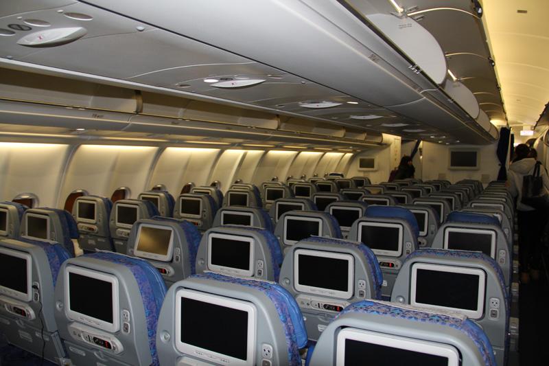 Экономкласс самолета Airbus A330-300 VQ-BNS Аэрофлота