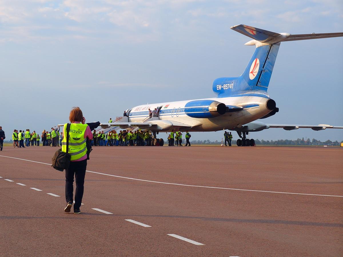 Из Гомеля в Минск на Ту-154 - Полет ради полета: Легенда II