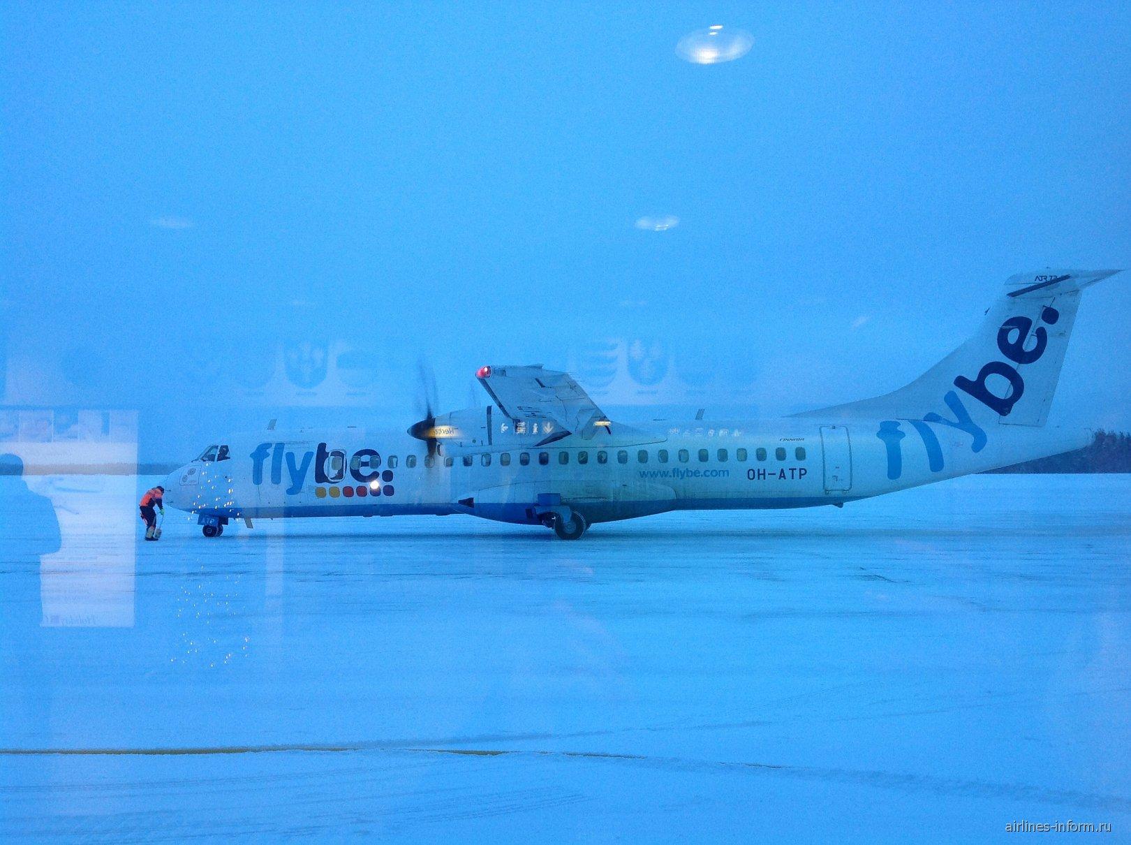 ATR 72 авиакомпании Flybe Nordic в аэропорту Каяни