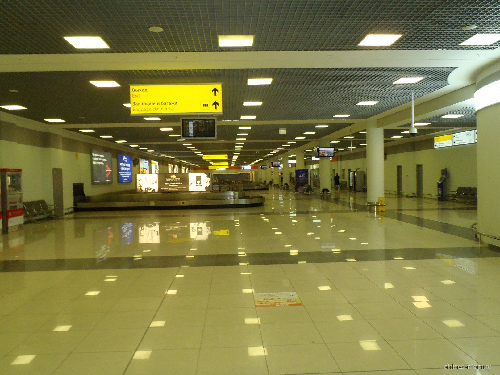 Зона выдачи багажа в терминале Е аэропорта Шереметьево