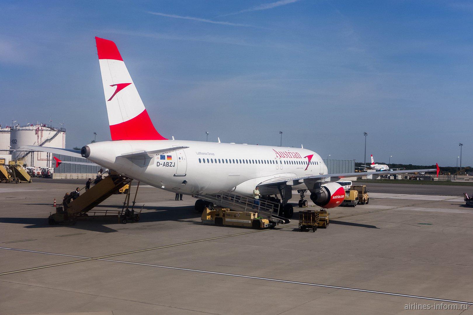 Airbus A320 авиакомпании Austrian в аэропорту Вены