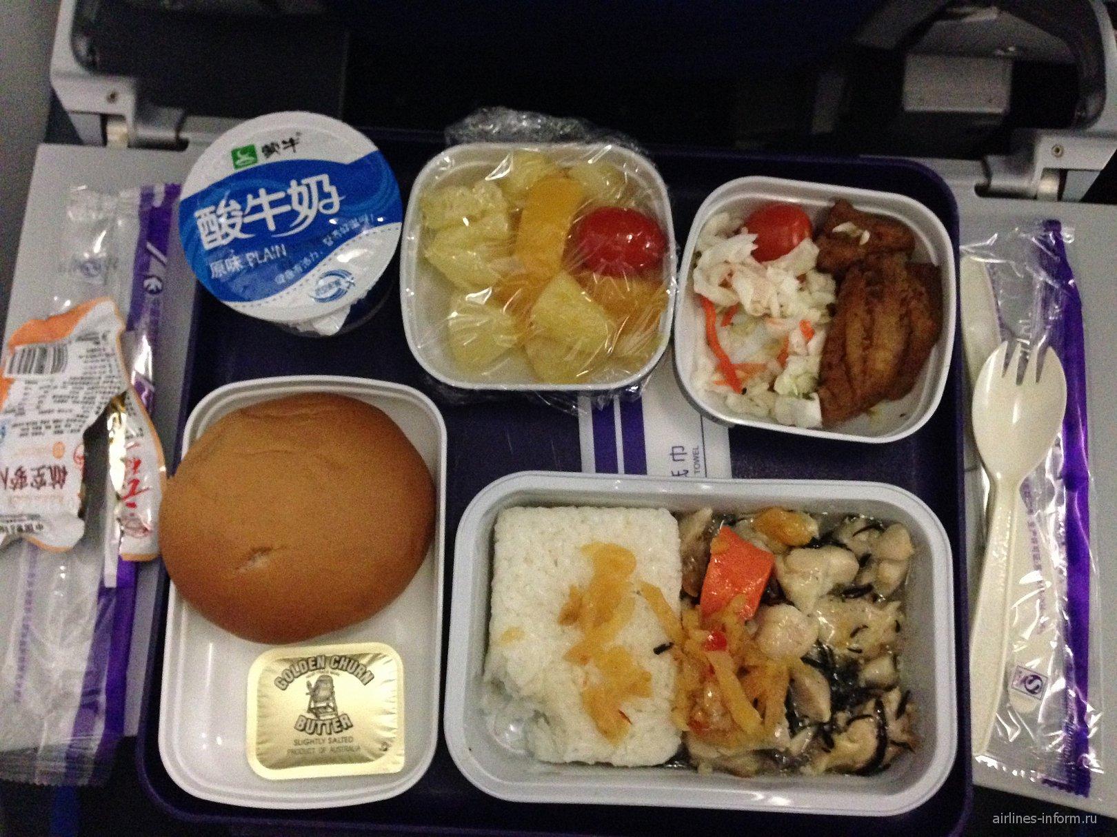 Питание на рейсе Шанхай-Куала-Лумпур авиакомпании China Eastern Airlines