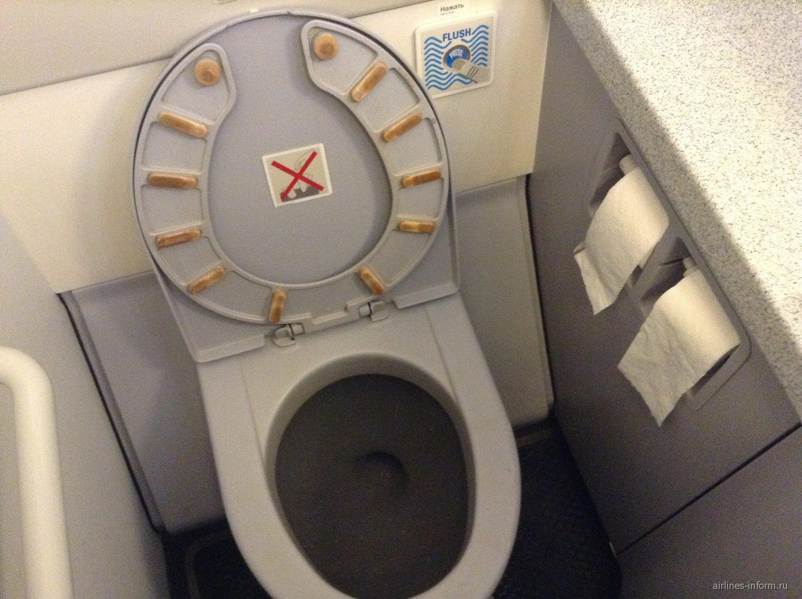 Сам туалет был очень чистым