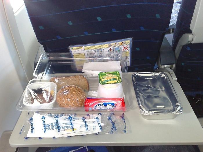 Питание на рейсе Норильск-Москва авиакомпании NordStar