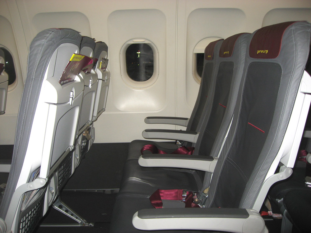 Seats of Airbus A319 of Germanwings