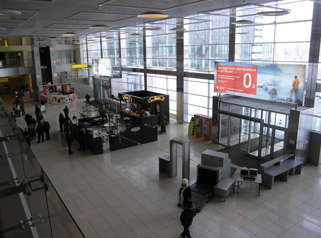 Общая зона терминала А аэропорта Екатеринбург Кольцово
