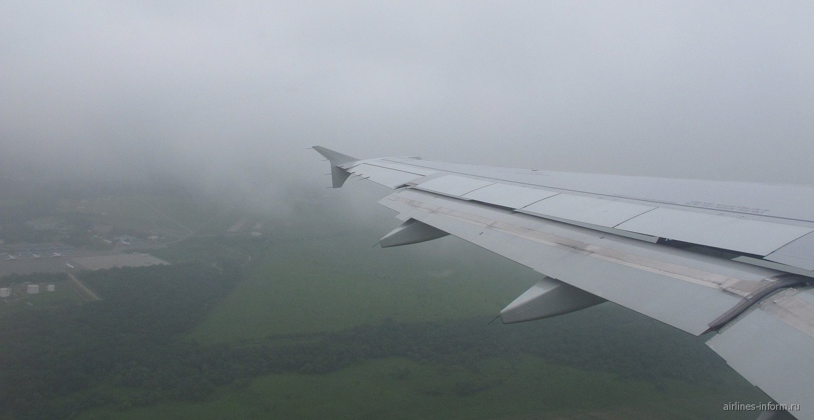 Взлет из аэропорта Владивостока