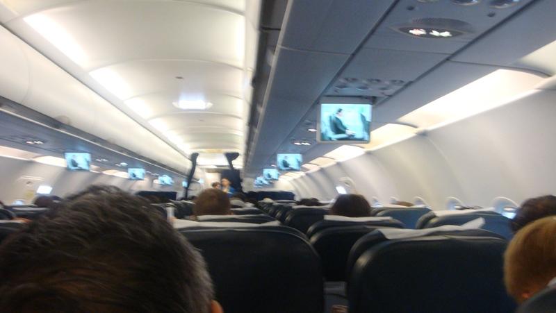Салон самолета Airbus A319 авиакомпании Air Astana