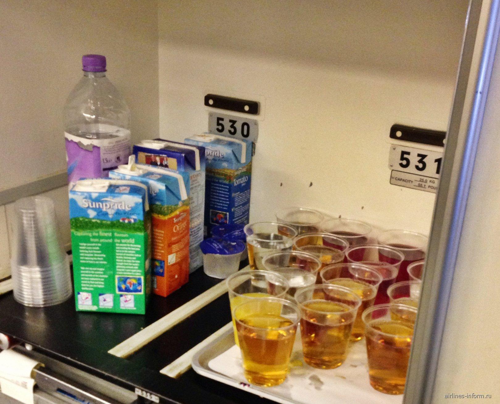 Питание на рейсе Алматы-Лондон Британских авиалиний