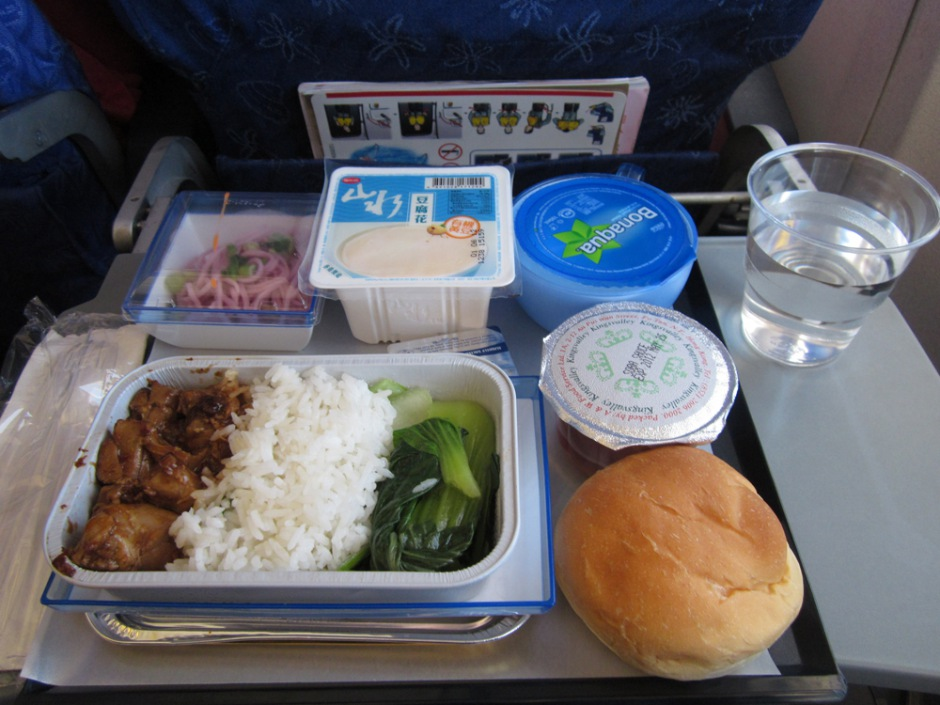 Board meal on the flight Hong Kong-Tokyo