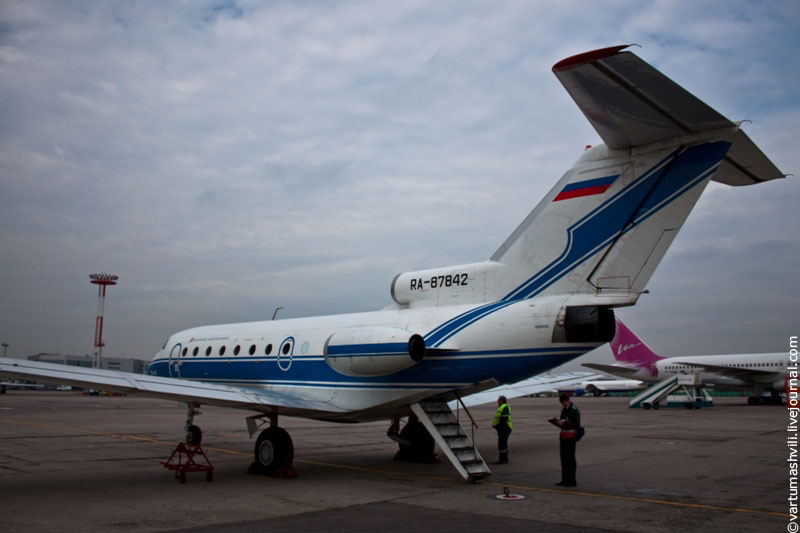 Vologda to Moscow on a Yak-40
