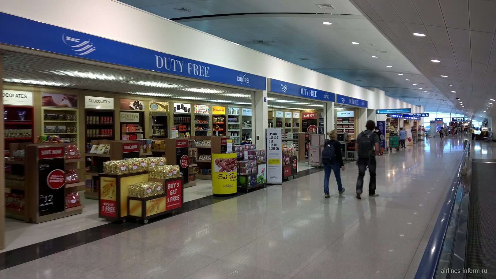 алерея магазинов в чистой зоне аэропорта Хошимин Тан Сон Нхат