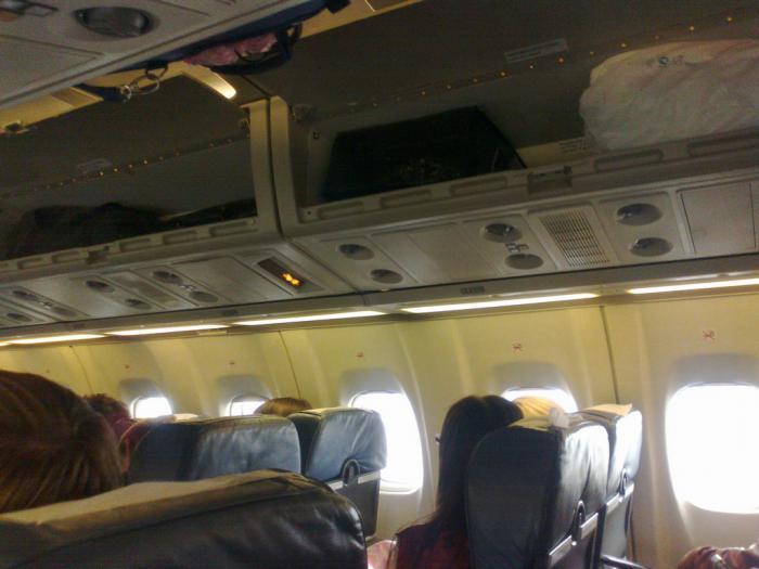 Passenger cabin of UTair ATR 42