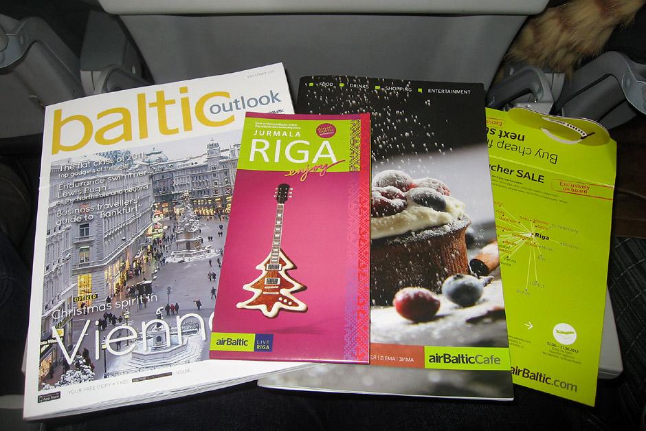 Бортовые журналы авиакомпании airBaltic