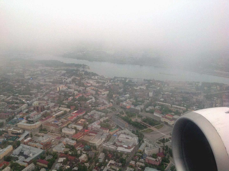 Вид на центр Иркутска