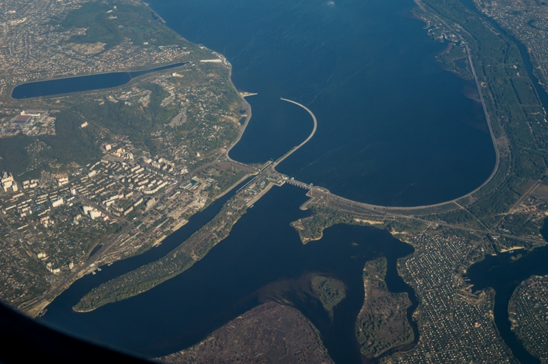 Киевская ГЭС и водохранилище