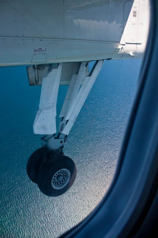 Bombardier Dash 8 Q300 is landing