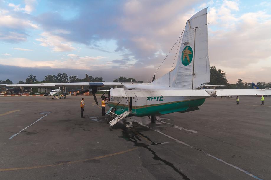 Самолеты в аэропорту Катманду