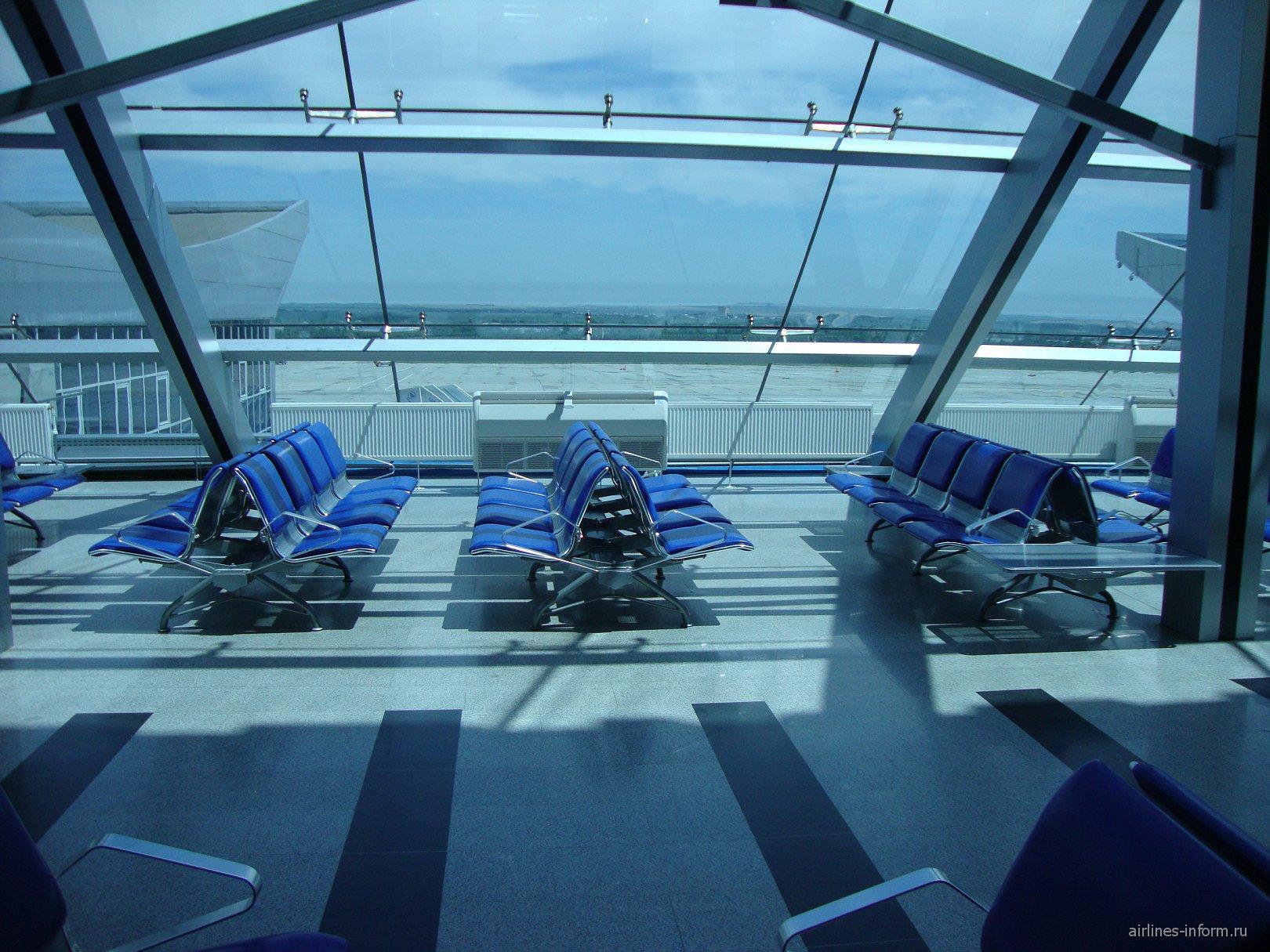 Зал ожидания в аэропорту Минеральные Воды