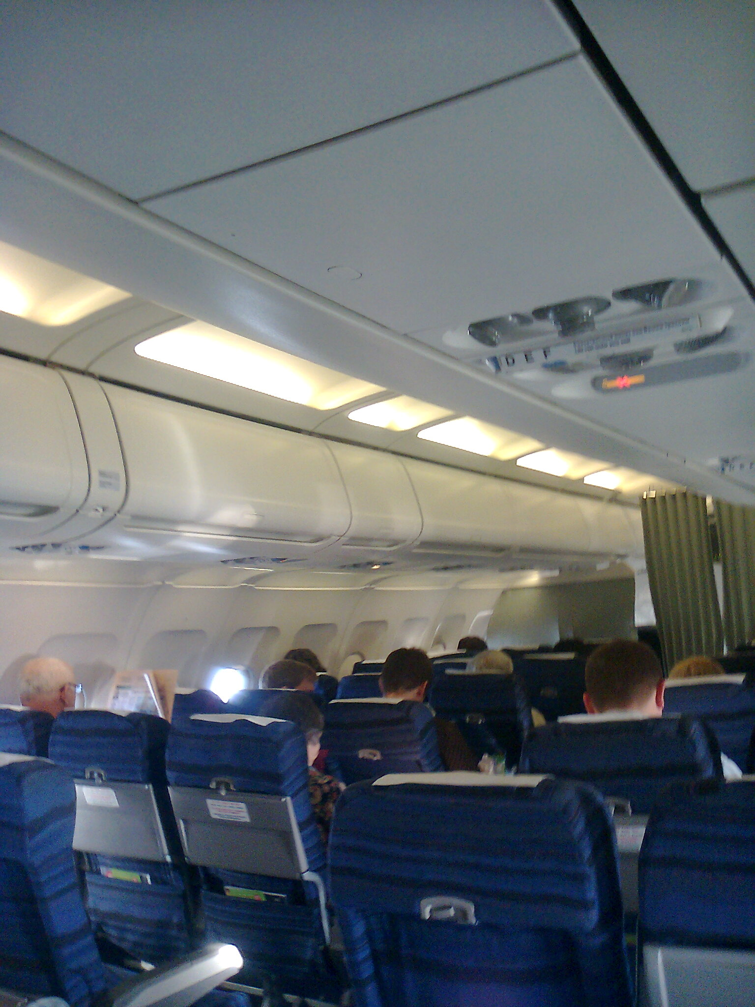Салон самолета Airbus A319 авиакомпании S7 Airlines