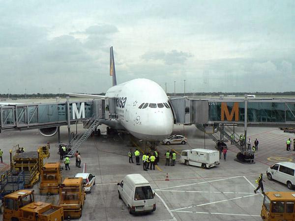 Airbus A380 of Lufthansa