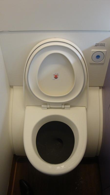 Туалет самолета Airbus A380 Тайских авиалиний